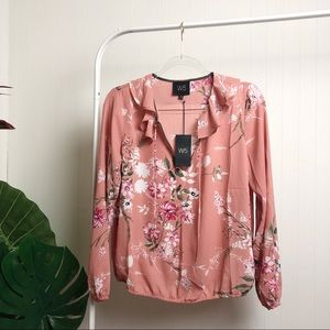 NWT W5 Floral Blouse >> S